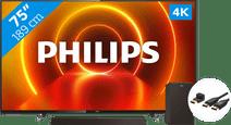 Philips 75PUS7805 - Ambilight + Barre de Son + Câble HDMI