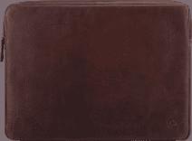 BlueBuilt 17 inch Laptophoes breedte 39 cm - 40 cm Leer Bruin