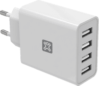 XtremeMac Oplader met 4 Usb Poorten 12W Wit