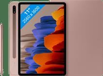 Samsung Galaxy Tab S7 128GB Wifi Brons + Samsung Book Case Roze