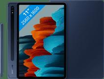 Samsung Galaxy Tab S7 256GB Wifi Blauw + Samsung Book Case Blauw