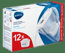 BRITA Marella Cool White + 12 Maxtra+ filterpatronen