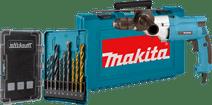Makita HP2051FH + 9-delige borenset (steen/hout/metaal)