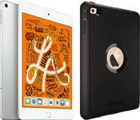 Apple iPad Mini 5 256 GB Wifi + 4G Zilver + Otterbox Defender Full Body Case