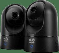 Eufy Indoor Cam 2K Pan & Tilt duo pack zwart