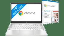 HP Chromebook 14a-na0030nb Azerty + Microsoft 365 Personal NL Abonnement 1 jaar