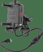 RAM Mounts Universele Telefoonhouder Motor met Draadloos Opladen Stuur