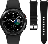 Samsung Galaxy Watch4 Classic 46 mm Noir + Samsung Bracelet Cuir Noir M/L 20 mm
