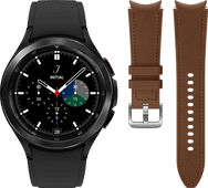 Samsung Galaxy Watch4 Classic 46 mm Noir + Samsung Bracelet Cuir Brun M/L 20 mm