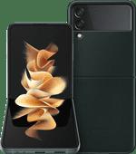 Samsung Galaxy Z Flip 3 256GB Groen 5G + Samsung Back Cover Leer Groen