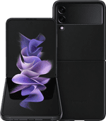 Samsung Galaxy Z Flip 3 256GB Zwart 5G + Samsung Back Cover Leer Zwart