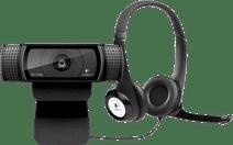 Logitech C920 HD Pro Webcam + Logitech H390 Stereo USB-A Hea Webcams