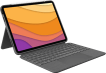 Logitech Combo Touch Apple iPad Air (2020) Toetsenbord Hoes AZERTY Grijs