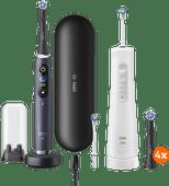 Oral-B iO - 9n Zwart + Aquacare Pro Expert + iO opzetborstels (4 stuks)