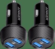 Anker Quick Charge Autolader zonder Kabel met 2 Usb Poorten 18W Duo Pack