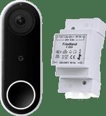 Google Nest Hello + Friedland Transformateur de Sonnette