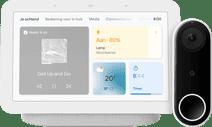 Google Nest Hub 2 Chalk + Nest Hello