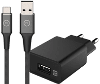 XtremeMac Charger 12W Black + USB-C Cable 1m Nylon Black Samsung tablet chargers