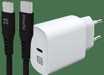 XtremeMac Chargeur Power Delivery 30 W Blanc + Câble USB-C 1,5 m Matière Synthétique Noir