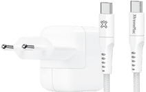 Apple Power Delivery Oplader 30W + XtremeMac Usb C Kabel 2,5m Nylon Wit