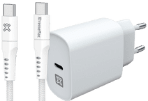 XtremeMac Power Delivery Charger 30W + USB-C Cable 2.5m Nylon White Samsung tablet chargers