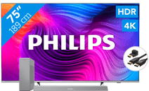 Philips 75PUS8506 - Ambilight (2021) + Soundbar + Hdmi kabel