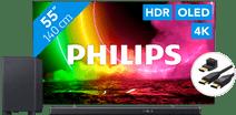 Philips 55OLED806 - Ambilight (2021) + Soundbar + Hdmi kabel Goedkope tv
