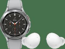 Samsung Galaxy Watch4 Classic 42 mm Zilver + Samsung Galaxy Buds 2 Zilver
