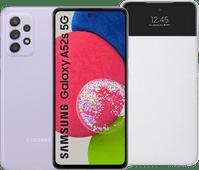 Samsung Galaxy A52s 128GB Paars 5G  + Samsung S View Book Case Wit