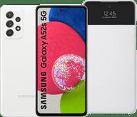 Samsung Galaxy A52s 128GB Wit 5G  + Samsung S View Book Case Wit Samsung Galaxy A serie