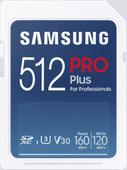 Samsung PRO Plus 512GB, SDXC,UHS-I,U3,160&120MB/s Reads & Writes, FHD & 4K UHD,Memory Card