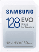 Samsung Evo Plus 128GB, SDXC, UHS-I, U3, 130Mb/s, FHD & 4K UHD, Memory Card(MB-SC128K)