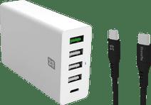 XtremeMac Power Delivery en Quick Charge Oplader 30W + Usb C Kabel 1,5m Kunststof Zwart