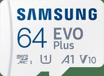 Samsung Evo Plus 64GB microSDXC UHS-I U3 130Mb/s Full HD & 4K UHD Memory Card with Adapter