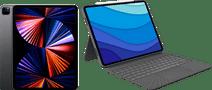 Apple iPad Pro (2021) 12.9 inch 256GB Wifi Space Gray + Logitech Toetsenbord Hoes AZERTY