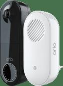 Arlo Wire Free Video Doorbell Zwart + Chime