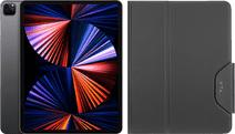 Apple iPad Pro (2021) 12.9 inch 512GB Wifi + 5G Space Gray + Targus Book Case Zwart