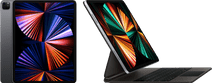 Apple iPad Pro (2021) 12.9 inch 128GB Wifi Space Gray + Magic Keyboard AZERTY Zwart