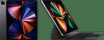 Apple iPad Pro (2021) 12.9 inch 256GB Wifi + 5G Space Gray + Magic Keyboard AZERTY Zwart