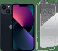 Apple iPhone 13 256GB Zwart + InvisibleShield Glass Elite+ Screenprotector