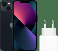 Apple iPhone 13 256GB Zwart + Apple Usb C Oplader 20W