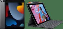 Apple iPad (2021) 10.2 inch 256GB Wifi + 4G Space Gray + Logitech Toetsenbord Hoes AZERTY