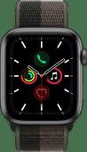 Apple Watch SE 4G 44mm Space Gray Aluminium Tornado/grijs Nylon Sport Loop