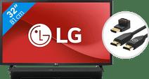LG 32LM6370PLA (2021) + Soundbar + HDMI kabel