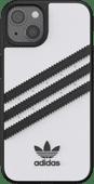 Adidas Apple iPhone 13 Back Cover Leer Wit/Zwart