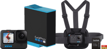 GoPro HERO 10 Black - Kit de fixation sur poitrine (128 Go)