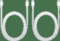 Apple Usb C naar Usb C Kabel 2m Kunststof Wit Duo Pack
