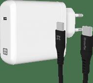 XtremeMac Power Delivery Oplader 45W Wit + Usb C Kabel Kunststof 1,5m Zwart