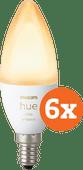 Philips Hue White Ambiance E14 Bluetooth 6-Pack