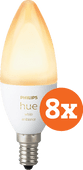 Philips Hue White Ambiance E14 Bluetooth 8-Pack